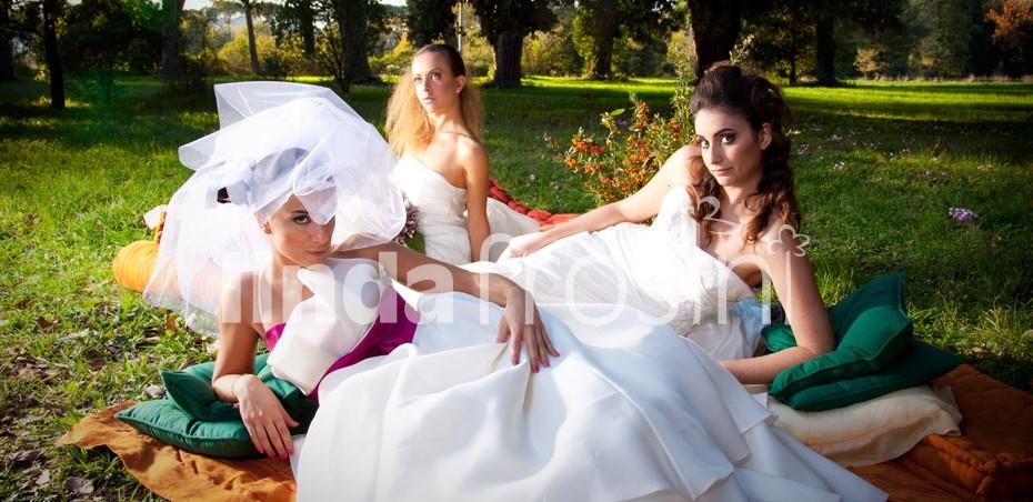 Shooting alla tenuta di Paganico per un servizio pubblicato su Sì- La rivista per chi si sposa - Pag 20 e 21/75